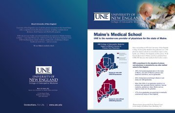 Maine's Medical School - University of New England