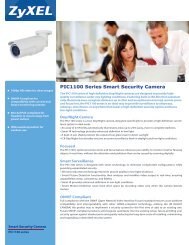 PIC1100 Series Smart Security Camera - ZyXEL