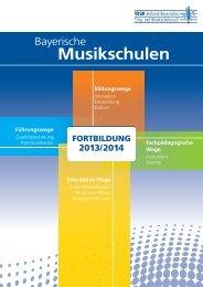 Fortbildungsheft 2013/14 - Verband Bayerischer Sing