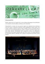 OrkesterkamP 2013 BOVEC (SLO), dal 5 al 27 ... - Banda Musicale