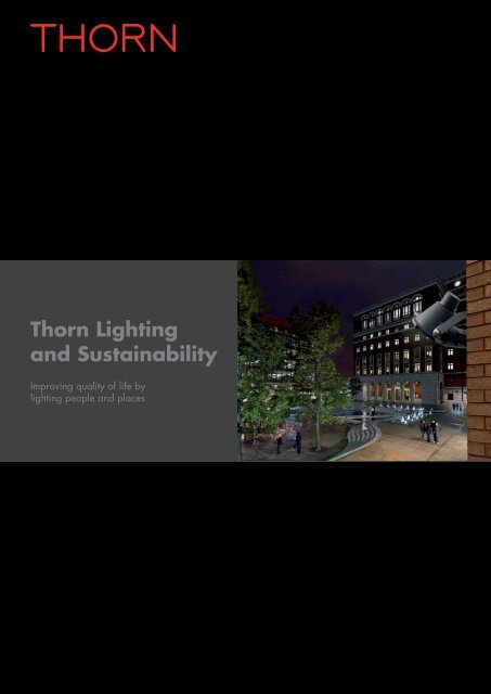 Download the Thorn Lighting and Sustainability brochure