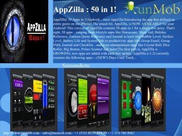 AppZilla : 50 in 1! - RunMob