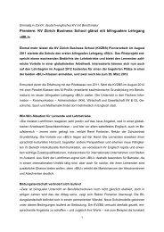 Premiere: KV Zürich Business School glänzt mit ... - Grundbildung