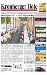 Kronberg|er|leben – wiederholungsverdächtig! - Taunus Nachrichten