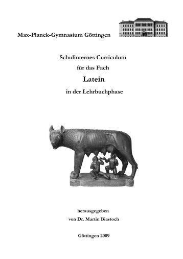 Latein-Curriculum des MPG - Max-Planck-Gymnasium Göttingen