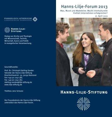 Hanns-Lilje-Forum - Bteu