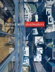 Partner with dealmakers - Jones Lang LaSalle