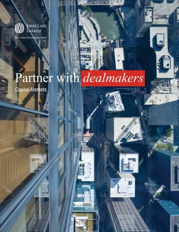 Partner with dealmakers - Jones Lang LaSalle