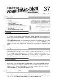 Sonntaktsblatt 37, Ausgabe Februar 2008 - Arbeitskreis Neues ...