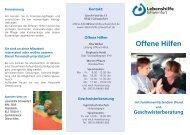Offene Hilfen - Lebenshilfe Schweinfurt