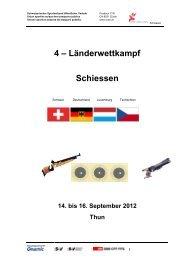 4 – Länderwettkampf Schiessen - SVSE Schweiz. Sportverband ...