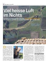 Ballonfahrt mit dem Migros Magazin - Heissluft Ballonclub Zürichsee