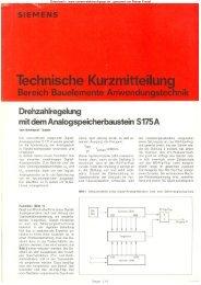 Drehzahlregelung mit S175A - Rainers - Elektronikpage