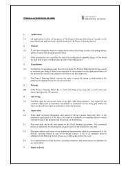 Hire terms and conditions - The Prince's Drawing School