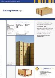 Stacking frames rigid - Palettenboerse