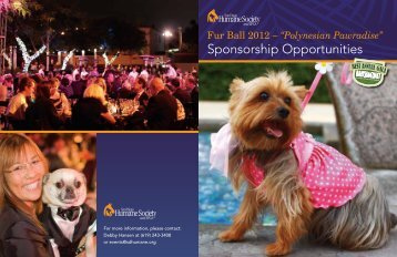 Sponsorship Opportunities - San Diego Humane Society and SPCA