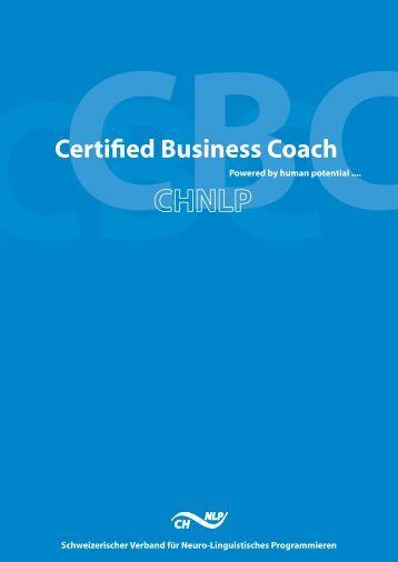 Certified Business Coach - SWISS NLP