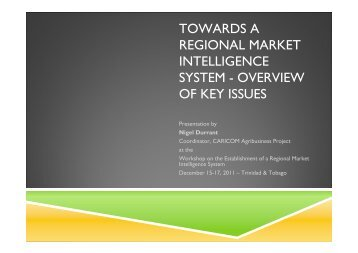 Towards a Regional Market Intelligence System - Overview of Key ...