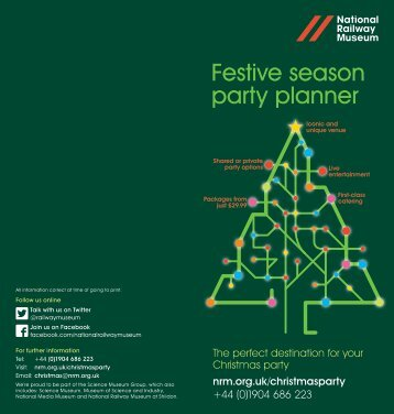 party planner for the 2013 Festive Season (PDF, 1Mb) - National ...