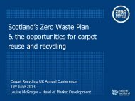Scotland's Zero Waste Plan and the opportunities for carpet reuse ...