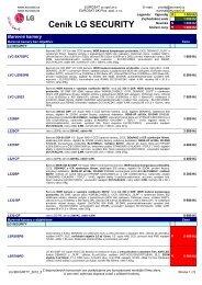 Ceník LG SECURITY - Eurosat CS