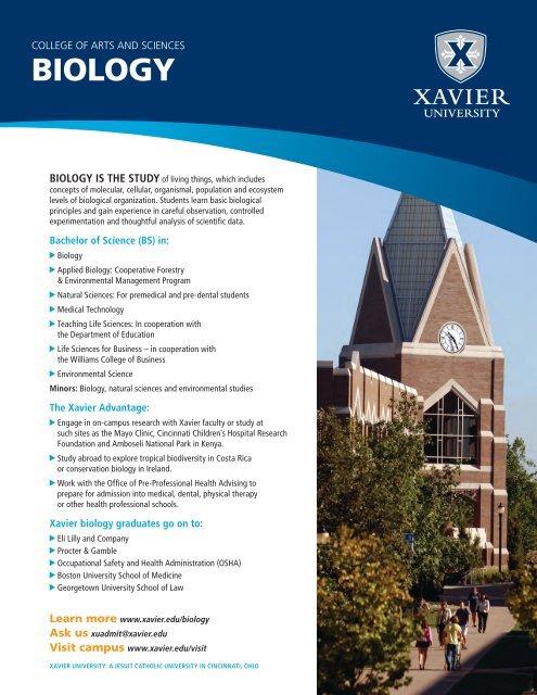 BIOLOGY - Xavier University