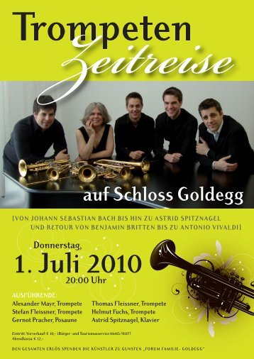 Trompeten auf Schloss Goldegg