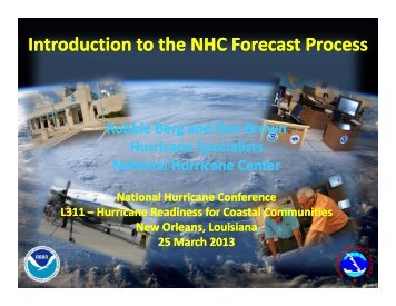 Introduction to the NHC Forecast Process - National Hurricane Center