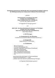 Vereinbarung53 KB - Kassenärztliche Vereinigung Thüringen