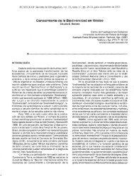 Conocimiento de la Biodiversidad en México - Publicaciones