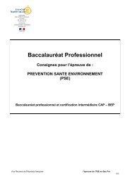 Evaluation de la PSE en Bac Pro_session 2013 - Vice-rectorat de ...
