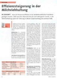 Effizienzsteigerung in der Milchviehhaltung - Swissmilk