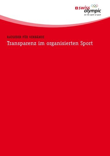 transparenz im organisierten Sport - Swiss Olympic