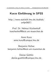 Kurze Einführung in SPSS: Folien