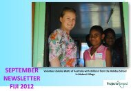 SEPTEMBER NEWSLETTER FIJI 2012 - Projects Abroad