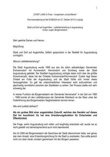 Leitbildentwicklung in Augustusburg