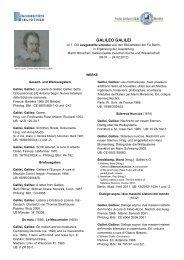GALILEO GALILEI - Universitätsbibliothek der Freien Universität Berlin