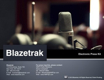 Electronic Press Kit - Blazetrak