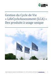 Gestion du Cycle de Vie Â« LifeCycleAssessment ... - Abena-Frantex