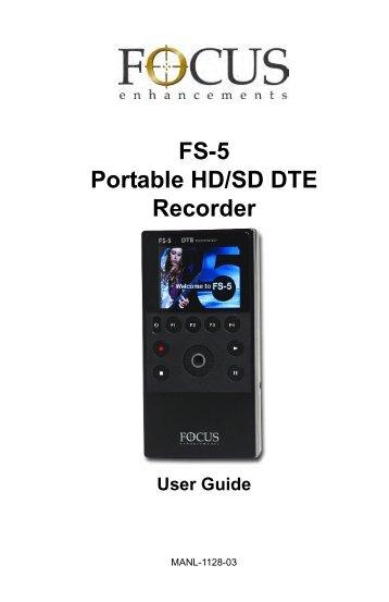 FS-5 Portable DTE Recorder, MANL-1128-03 - Holdan.eu