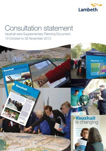 Vauxhall SPD Consultation Statement 2013 - Lambeth Council