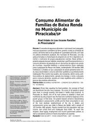 Consumo Alimentar de Famílias de Baixa Renda no ... - Unimep