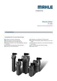 Mitteldruckfilter Pi 360 - MAHLE Industry - Filtration