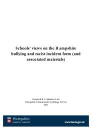 Schools' views on the Hampshire bullying and racist incident form ...