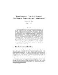 Emotions and Practical Reason: Rethinking Evaluation and ... - eDisk