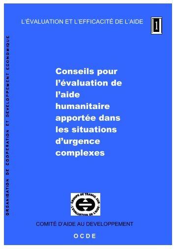 Conseils pour l'évaluation de l'aide humanitaire apportée dans les ...