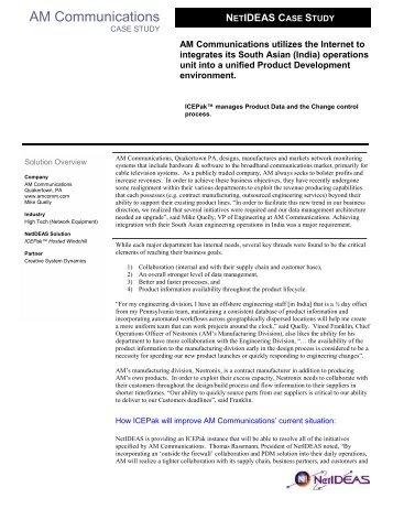 Teklynx Case Study Template - NetIDEAS, Inc.