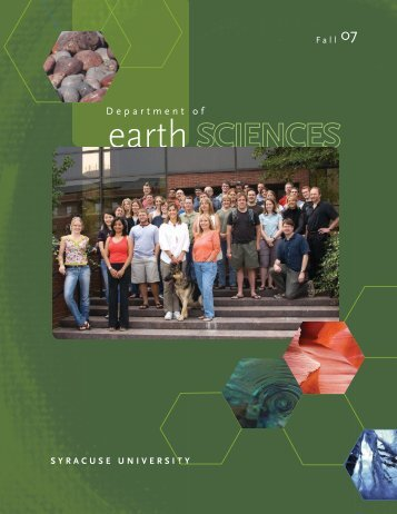 0002036 Earth Sciences Newsletter.indd - Syracuse Universe ...
