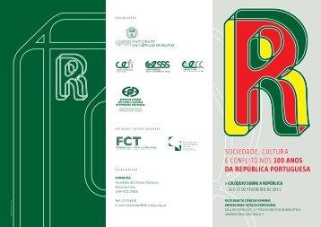 folheto_Republica II.. - Centro de Estudos de Serviço Social e ...