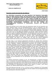 Vorbericht Oldtimer-Treffen und -Ausfahrt - MSC Eppelborn